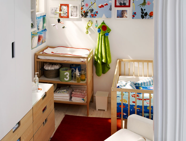 Children39s ikea playroom inspiration home design and for Nursery furniture for small spaces