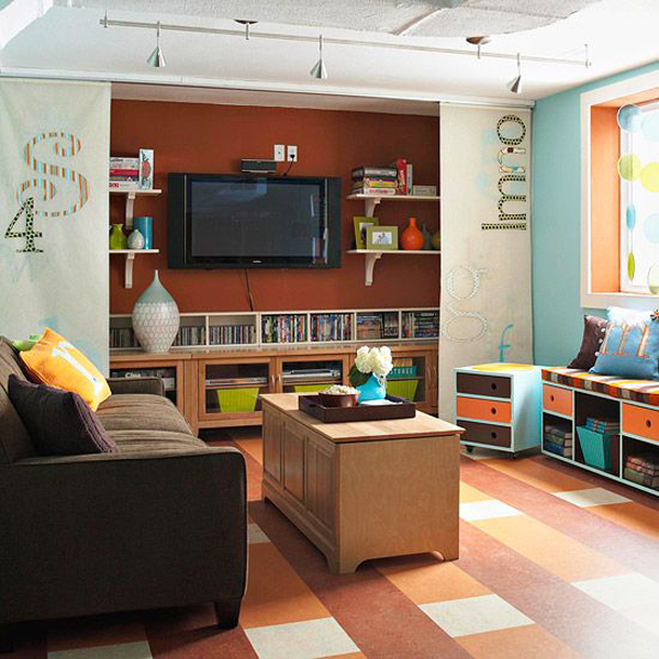 Benches-and-storage-basement