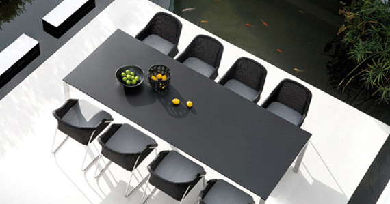 black-outdoor-dining-table