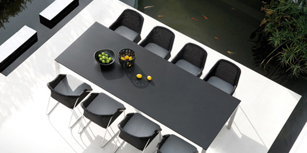 Black Outdoor Dining Table