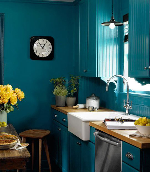 gallery of 20 kitchen ideas with painted cabinet - Blue Kitchen Ideas