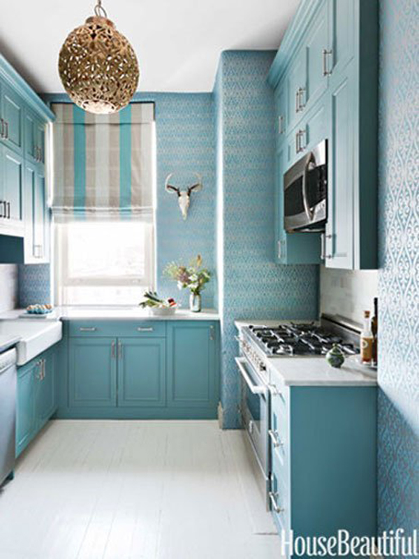 Blue Kitchen Walls Ideas For 2018