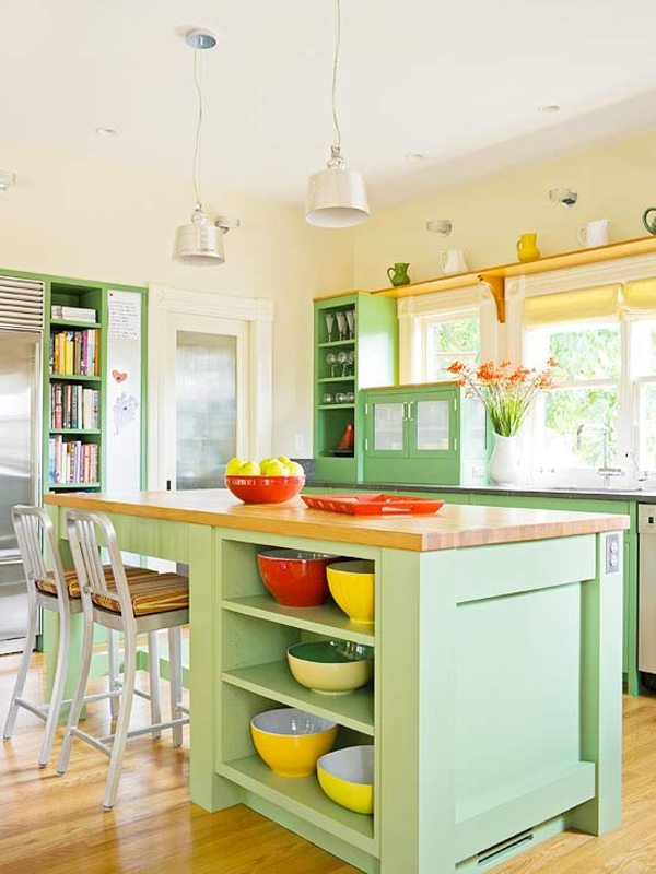 Bright Kitchen New With Colorful Kitchen Islands Picture