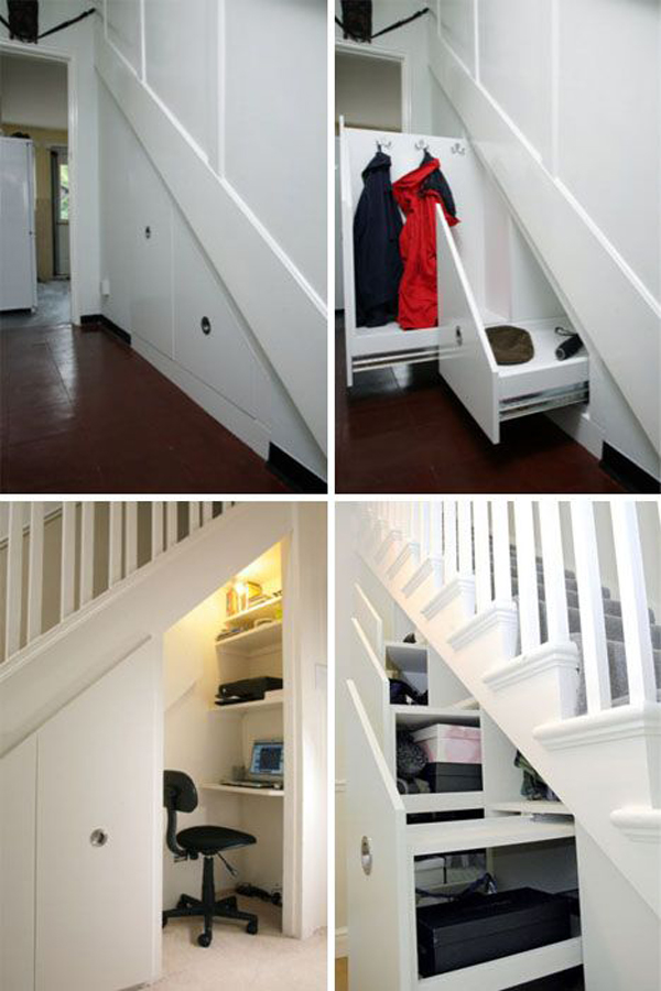 Closet understairs for Understairs storage