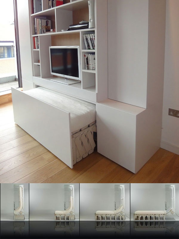 Concealed Pull Out Bed Design
