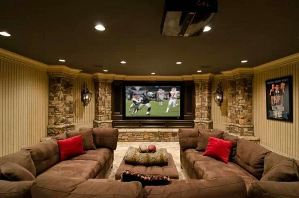 Cool Home Theater Basement