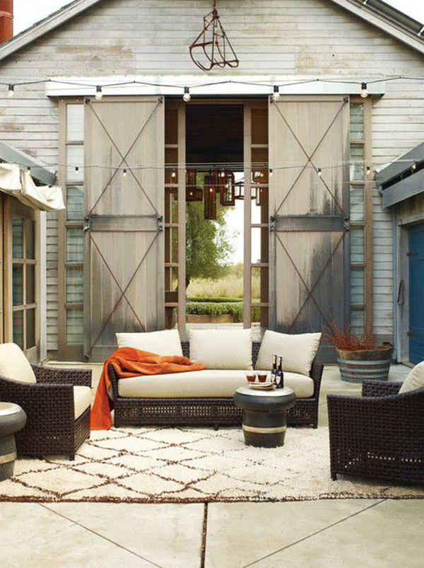 15 Cozy Outdoor Living Space | Home Design And Interior on Living Spaces Outdoor Sectional id=26411