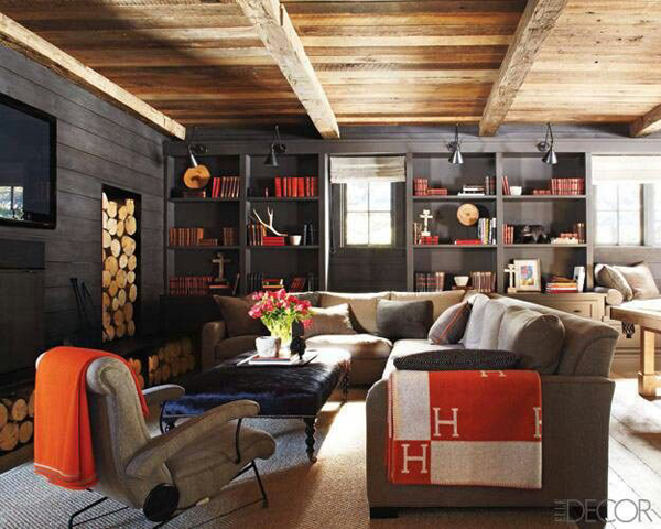 Basement ideas with entertainment area home design and for Man cave living room ideas