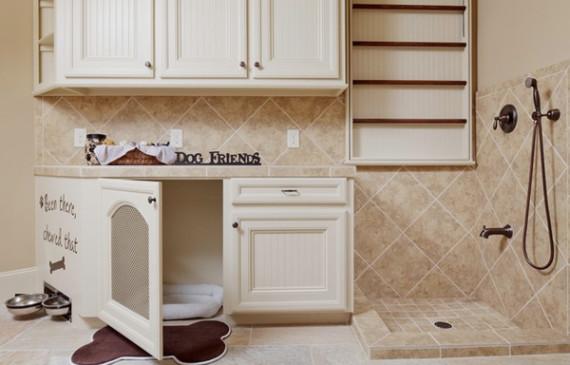 dog-house-in-bathroom
