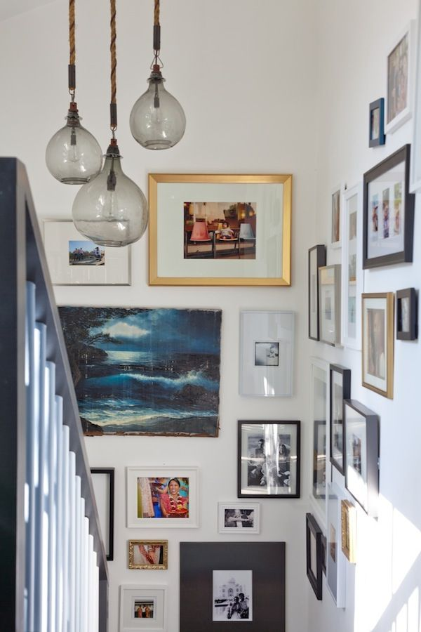 Emily henderson stair gallery wall for Home design picture gallery