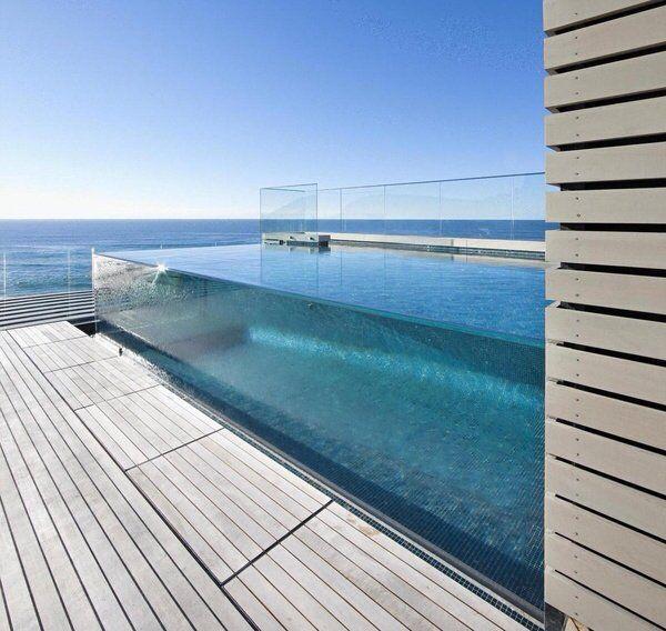 fancy glass pool architecture. Black Bedroom Furniture Sets. Home Design Ideas