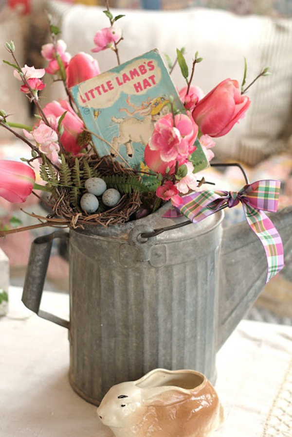 Flower easter decor ideas for Floral decorations for home