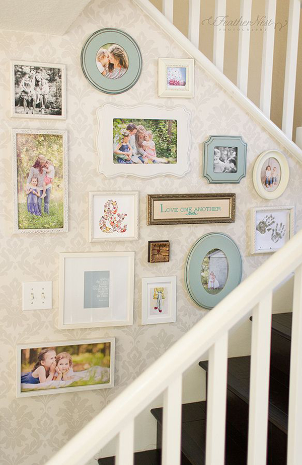 Ideas For Wall Decor On Stairs : Gallery wall stair ideas