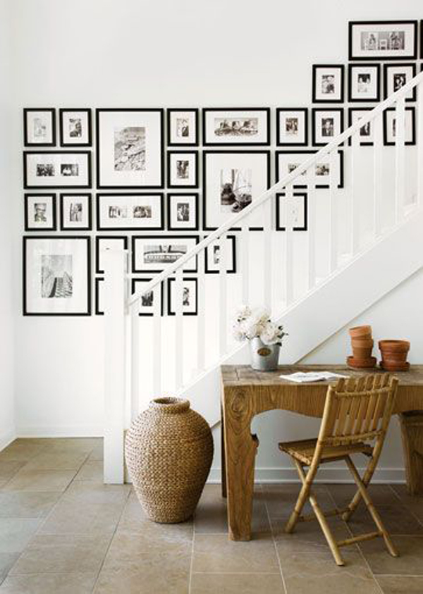 Gallery wall up stairs for Home design picture gallery