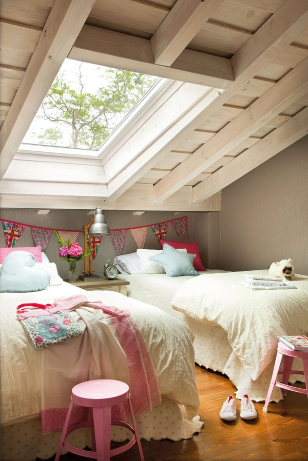 Girl attic bedrooms for Bedroom ideas attic rooms