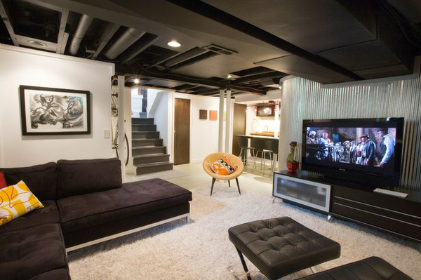 Basement Ideas With Entertainment Area Home Design And Interior Enchanting Basements By Design Design