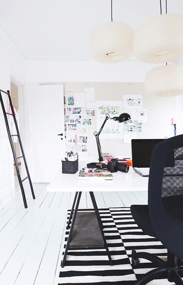 Modern work office in danish house - Modern werk ...