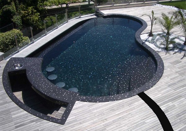 Mosaic Glass Crystal Pool In Private Villa Lugano Switzerland