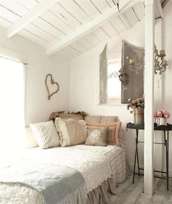 Interior Design Ideas For Home Theater: Romantic-bright-attic-bedrooms