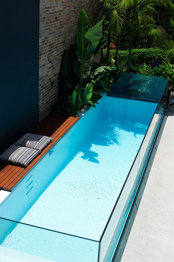Amazing Glass Pool Walls Home Design And Interior