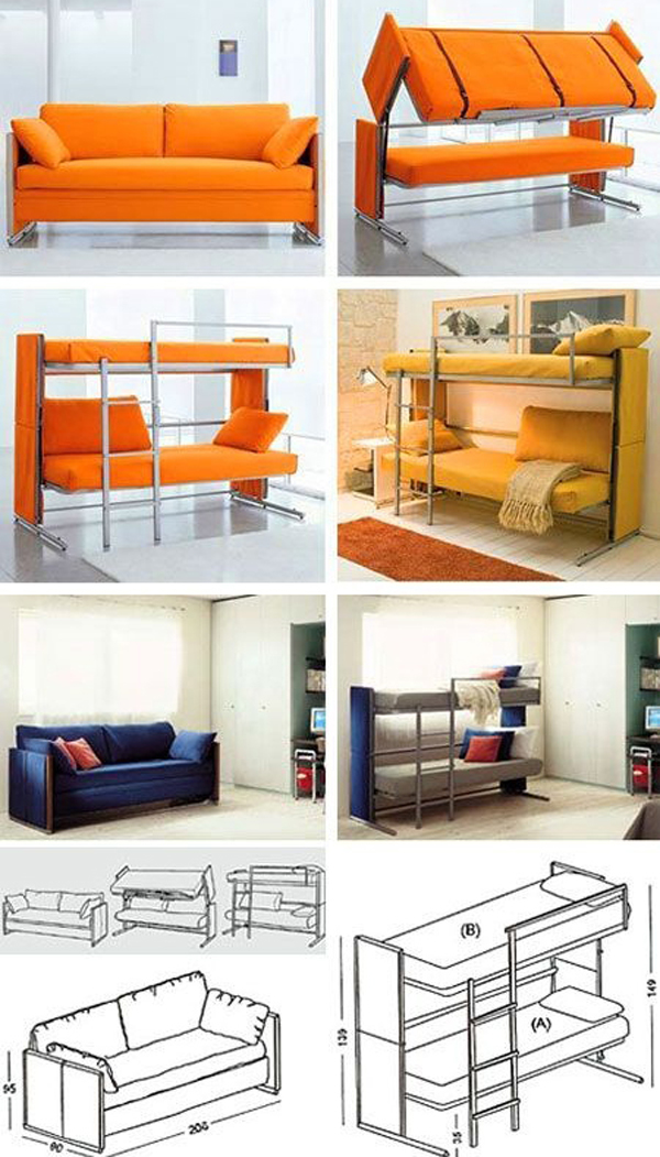 Sofa Bunk Beds Design