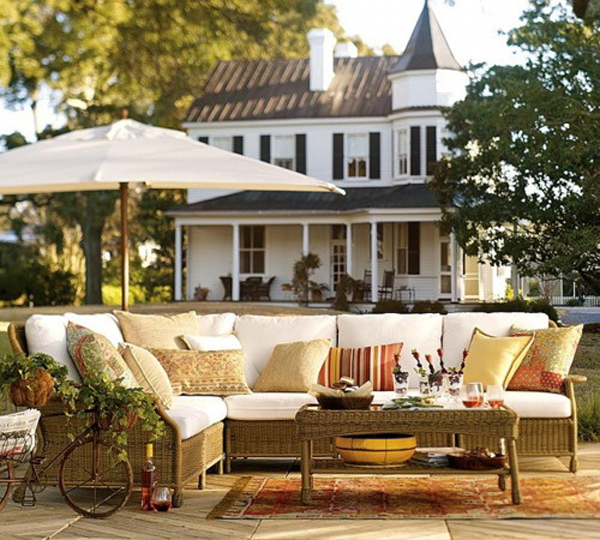 Spring Outdoor Living Room Design Ideas