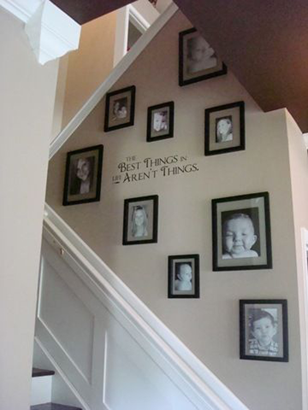 Picture Frames On The Wall Stairs Interior Design