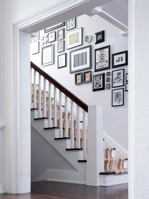Photo Wall Ideas With Different Frames : Wall frame collage arrangement