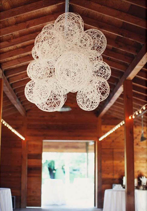 String garden for rustic wedding ideas Home wedding design ideas