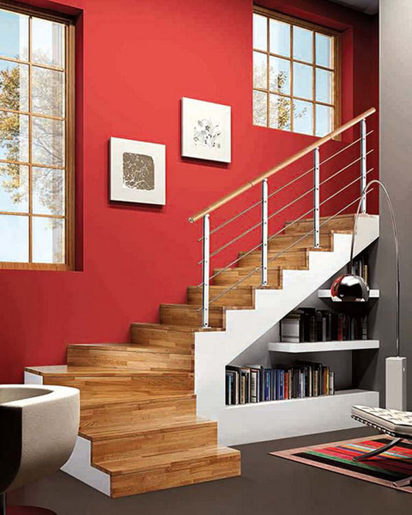 Shelves Under Stairs 30 Modern Hallway Under Stairs With Storage Ideas  Home Design .