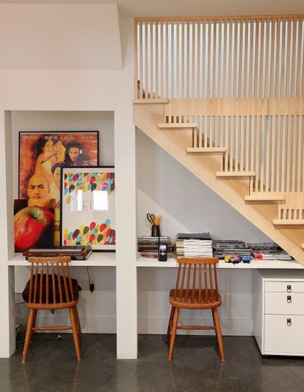 understairs-work-space-storage-ideas
