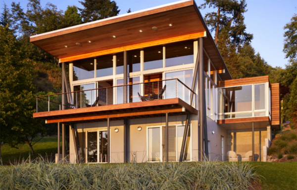 Vashon island cabin by vandeventer carlander architects for Waterfront cottage designs