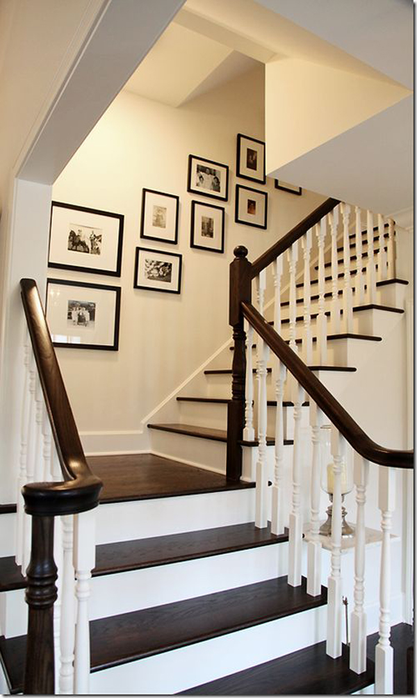 very similar to staircase gallery wall
