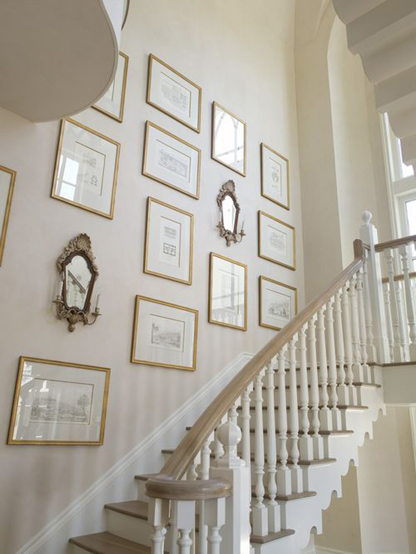 Vintage Stair Gallery Wall Design Homemydesign