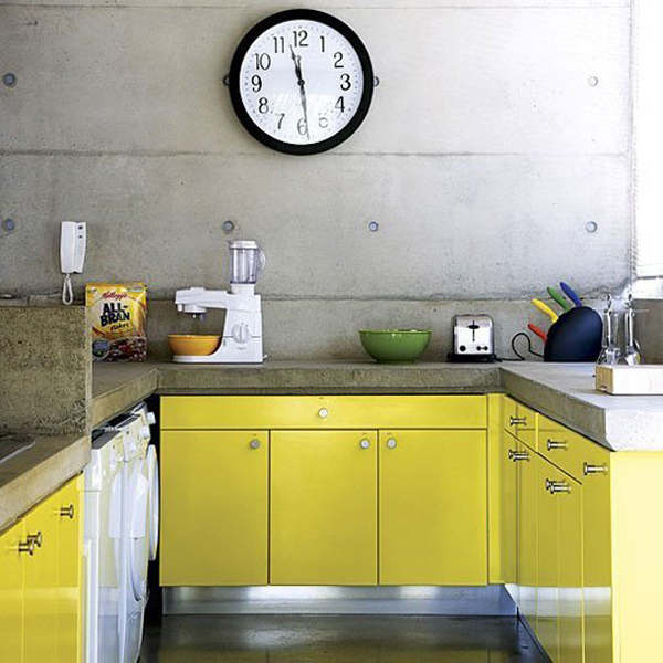 Yellow Kitchen Cabinet Home Design And Interior