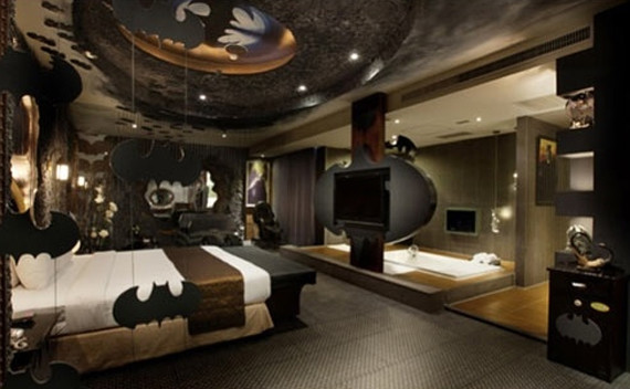 Batman themed bedroom interior style ideas for Interior theme ideas