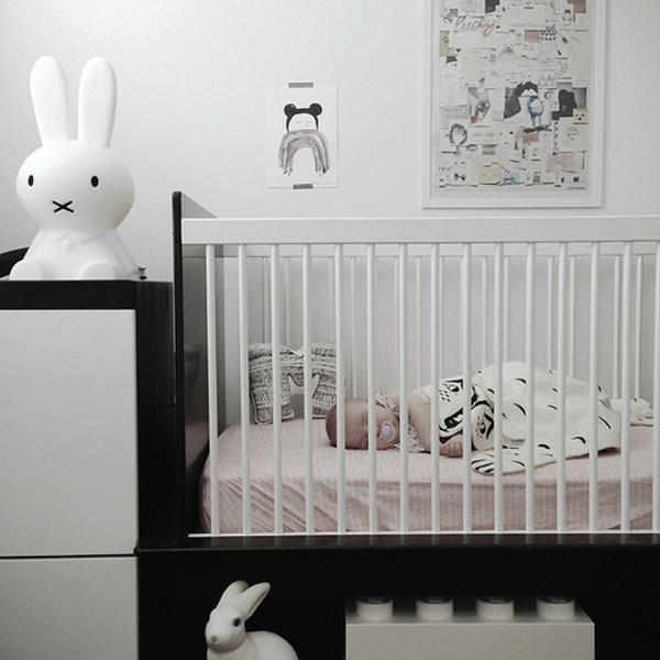 Black and white kids room decor Black and white room decor