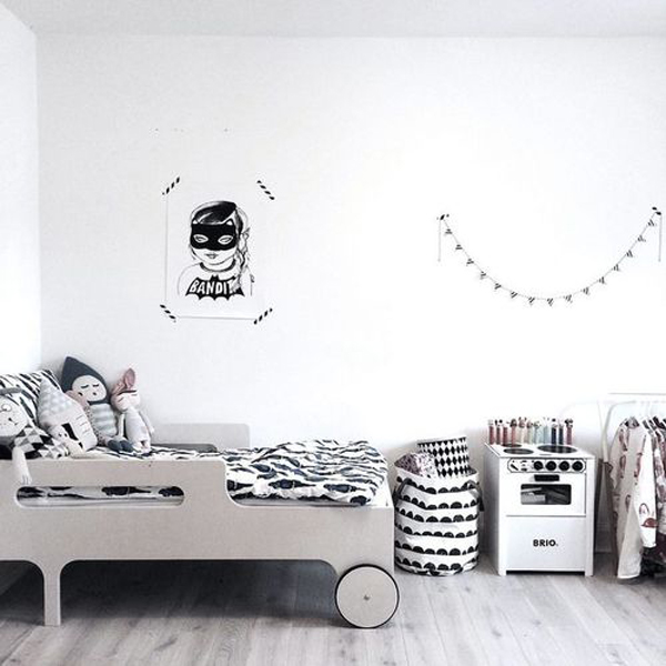 Black And White Kids Room Ideas Home Design And Interior