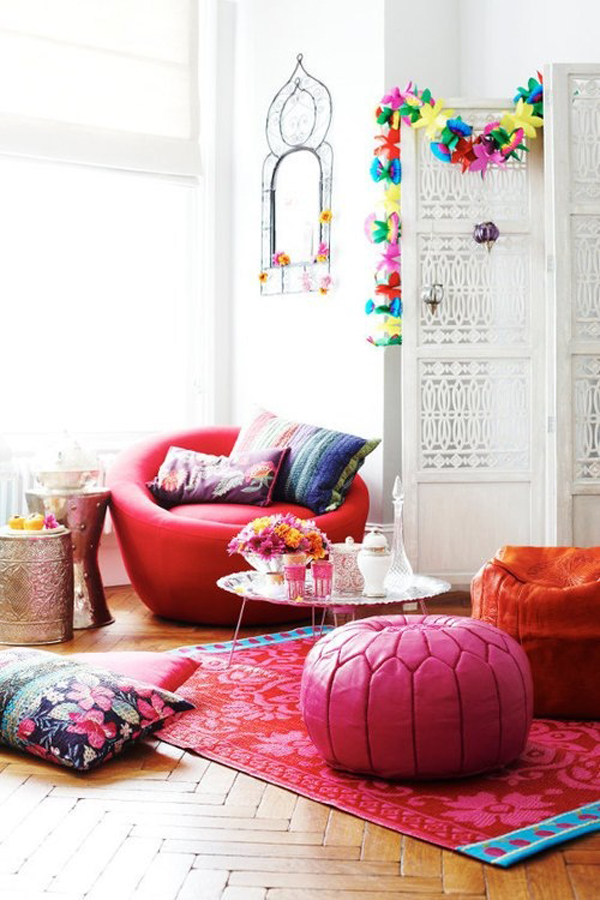 Bohemian Living Room Furniture Set