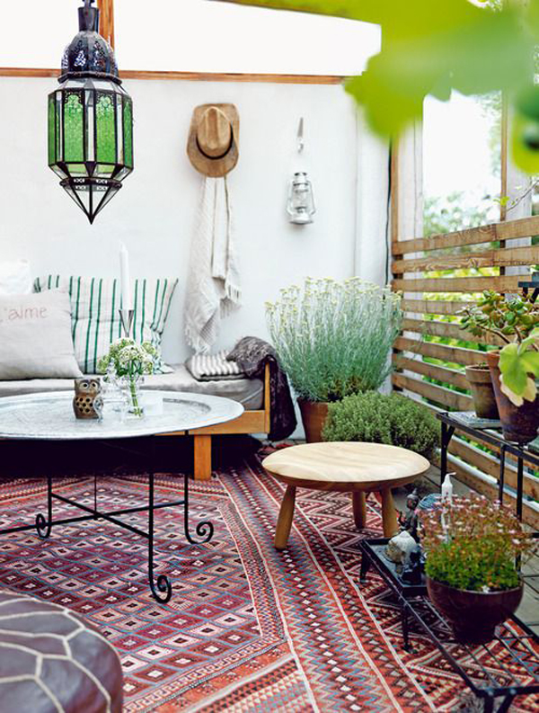 Balkon Hängeklapptisch Holz ~ 30 Beautifully Boho Chic Balcony Ideas  Home Design And Interior