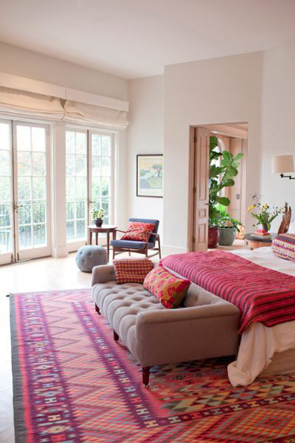 Bright bohemian bedrooms for Bright house design