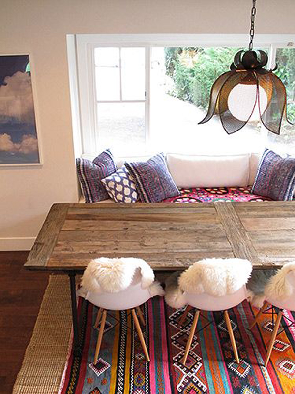 Chic Bohemian Seating Area