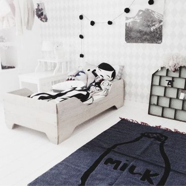 Cute Balck And White Kids Room Designs