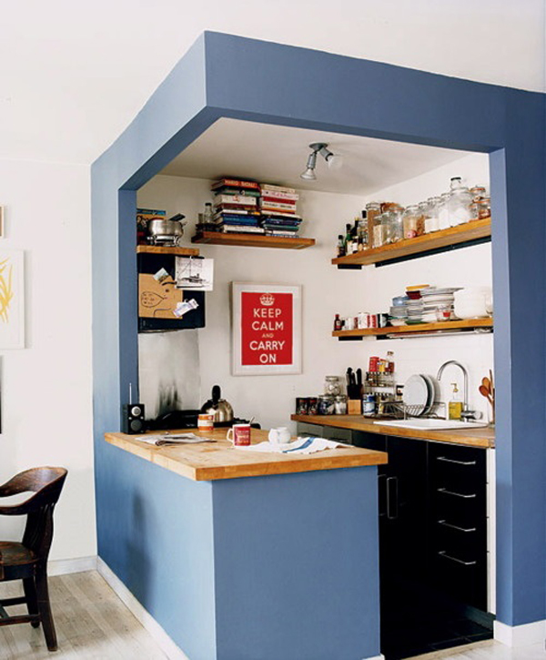 Diy small kitchen ideas for Small kitchen area ideas