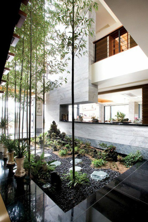 Indoor courtyard design ideas Homes with inner courtyards