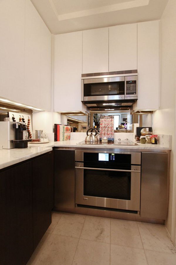 use that extra three square feet of space for an added work surface