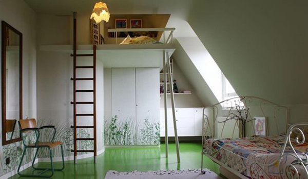 15 awesome loft beds design home design and interior - Mezzanine bedlamp ...
