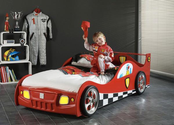 Red Ferrari Car Bed For Kids Room