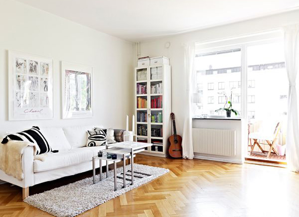 Beautiful small apartment only 36 square meters home design and interior - Interior decorating for small apartments ...