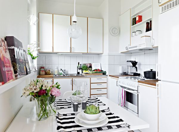 Small apartment kitchen area Small square kitchen designs